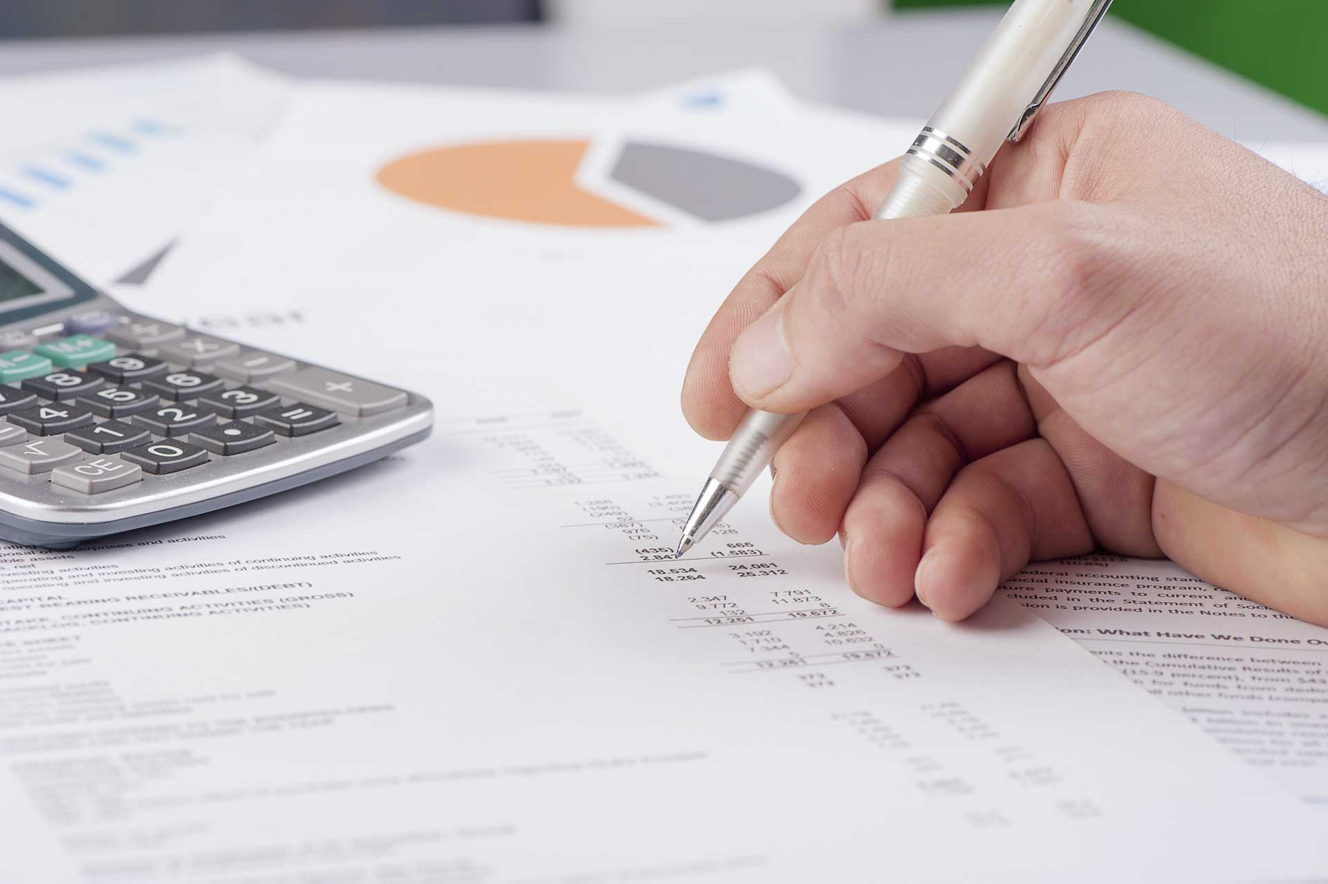 accounting and finance professional working